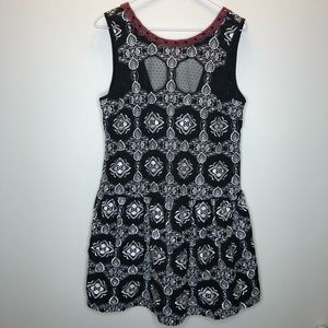 Free People Printed Embroidery Dress